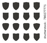 black shield and badge vector | Shutterstock .eps vector #780277771