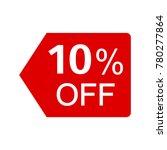 10   off red vector sticker | Shutterstock .eps vector #780277864