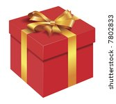isolated gift box | Shutterstock .eps vector #7802833
