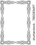 vertical rectangular celtic... | Shutterstock .eps vector #780285697