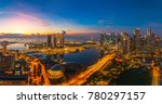 singapore city with office... | Shutterstock . vector #780297157