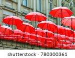 decorative red parasol hang in... | Shutterstock . vector #780300361