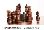 chess pieces with coins stack... | Shutterstock . vector #780304711