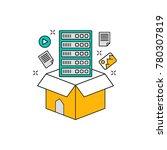 data storage vector icon   Shutterstock .eps vector #780307819