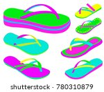 women summer slippers | Shutterstock .eps vector #780310879