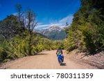 touring bike at patagonia ... | Shutterstock . vector #780311359