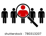 the search icon. icons of... | Shutterstock .eps vector #780313207