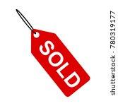 sold tag symbol | Shutterstock .eps vector #780319177