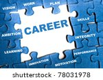 career blue puzzle pieces... | Shutterstock . vector #78031978