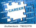 career blue puzzle pieces