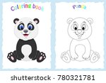 coloring book page for... | Shutterstock .eps vector #780321781