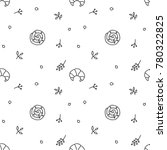 bakery  vector seamless pattern ... | Shutterstock .eps vector #780322825