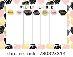 modern vector weekly planner... | Shutterstock .eps vector #780323314