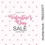 valentines day sale  discount... | Shutterstock .eps vector #780325477