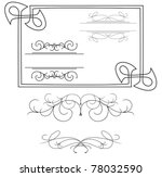 vector   set of various curved... | Shutterstock .eps vector #78032590