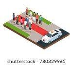 wedding ceremony isometric... | Shutterstock . vector #780329965