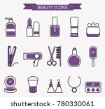 lady fashion accessories set ... | Shutterstock .eps vector #780330061