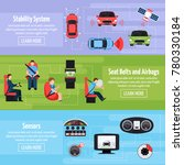 car safety systems horizontal... | Shutterstock . vector #780330184