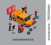 auto service car diagnostics...   Shutterstock . vector #780330664