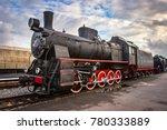 steam locomotive with red... | Shutterstock . vector #780333889