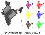 india map vector illustration ... | Shutterstock .eps vector #780334675