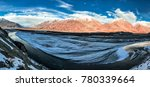 panoramic views of river shyok... | Shutterstock . vector #780339664