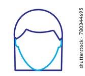 faceless woman profile avatar...   Shutterstock .eps vector #780344695