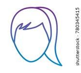 faceless woman profile avatar...   Shutterstock .eps vector #780345415