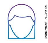 faceless woman profile avatar...   Shutterstock .eps vector #780345421