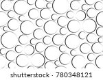 ircles seamless pattern. white ... | Shutterstock .eps vector #780348121