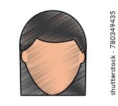 faceless woman profile avatar...   Shutterstock .eps vector #780349435