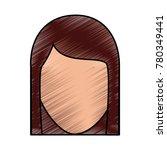 faceless woman profile avatar...   Shutterstock .eps vector #780349441