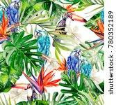 beautiful watercolor seamless ... | Shutterstock . vector #780352189