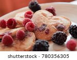 pancakes with berries for... | Shutterstock . vector #780356305