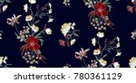 seamless floral pattern in... | Shutterstock .eps vector #780361129