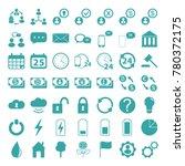 vector icon set | Shutterstock .eps vector #780372175