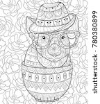 adult coloring book page a cute ... | Shutterstock .eps vector #780380899