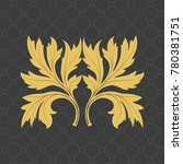 vintage baroque ornament. retro ... | Shutterstock .eps vector #780381751