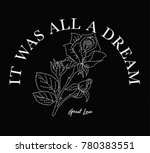 slogan graphic with flower... | Shutterstock .eps vector #780383551