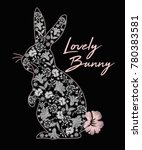 lovely bunny graphic  | Shutterstock .eps vector #780383581
