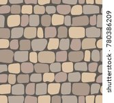 seamless pattern with brown... | Shutterstock .eps vector #780386209