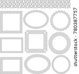 set of isolated decorative... | Shutterstock .eps vector #780387757