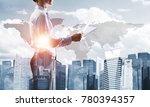 double exposure of elegant... | Shutterstock . vector #780394357