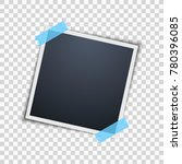 empty photo frame on a...   Shutterstock .eps vector #780396085