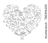 music school for kids vector... | Shutterstock .eps vector #780396205