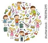 music school for kids vector... | Shutterstock .eps vector #780396295