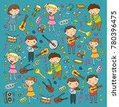 music school for kids vector... | Shutterstock .eps vector #780396475