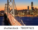 san francisco bay bridge and... | Shutterstock . vector #780397621