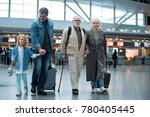 full length of delighted old... | Shutterstock . vector #780405445
