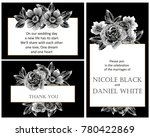 romantic invitation. wedding ... | Shutterstock . vector #780422869